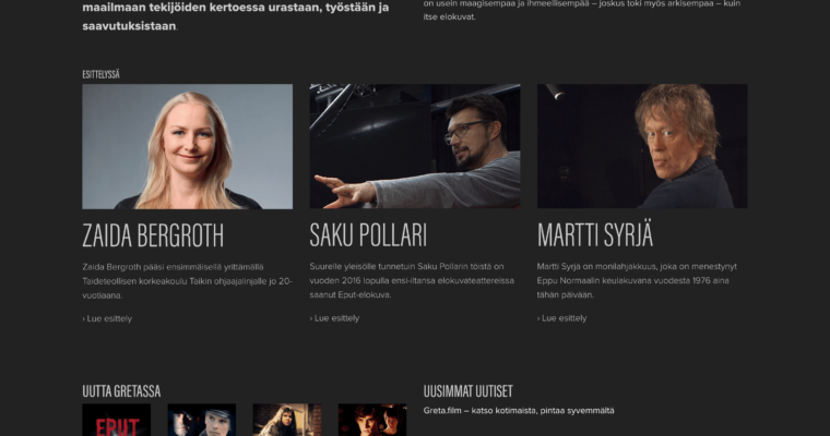 Greta.film – katso suomalaista elokuvaa