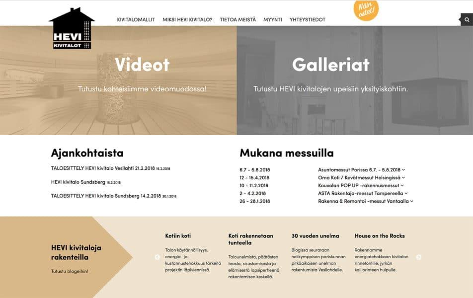 HEVI Kivitalot -nettisivut