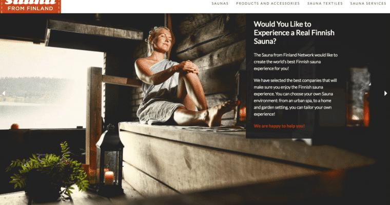 Sauna from Finland -verkkosivustot